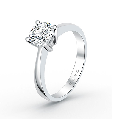 ORRO Knife Edge Solitaire Ring (1.0ct) in 18K Rose Gold