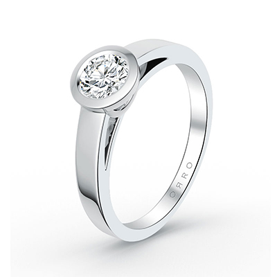 ORRO Bezel Centurion Ring in 18K White Gold