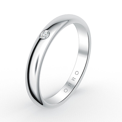 ORRO Classic Band Ring in 18K White Gold