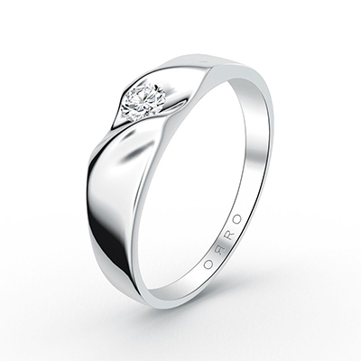 ORRO Classic Ariel Band (Men) in 18K White Gold