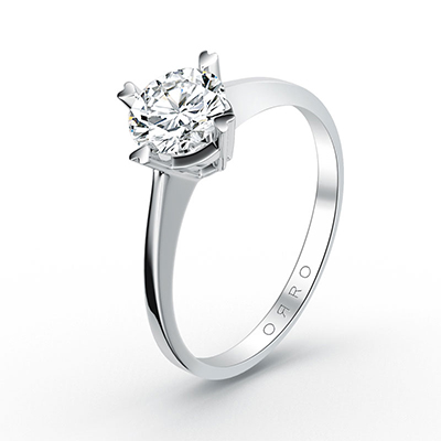 ORRO Love Edition Four-Pronged Solitaire Ring