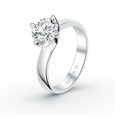 ORRO Swirled Prong Ring