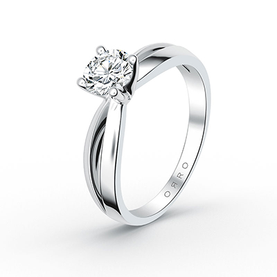 ORRO Bow-Pronged Solitaire Ring (0.5ct) in 18K Rose Gold