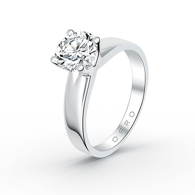 ORRO 4 Prongs Solitaire Ring in 18K Yellow Gold