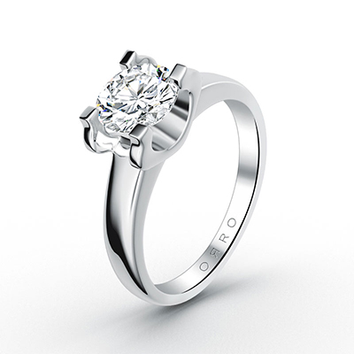 ORRO Modern Pronged Round Brilliant Solitaire ring (0.50ct)