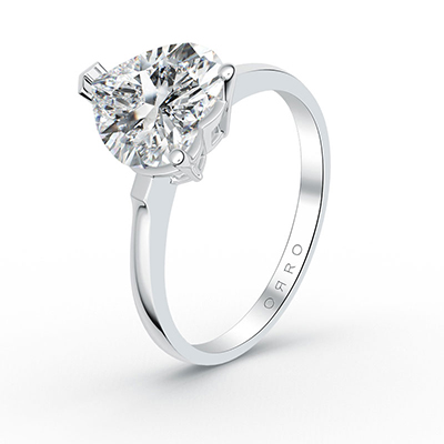 ORRO Ariella Hearts Solitaire Ring (3.00ct) in 18K Yellow Gold