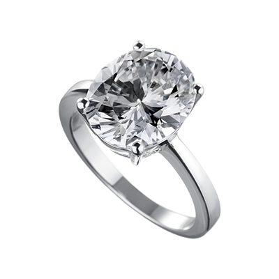 ORRO Laila Solitaire Ring (5.0ct) in 18K Yellow Gold