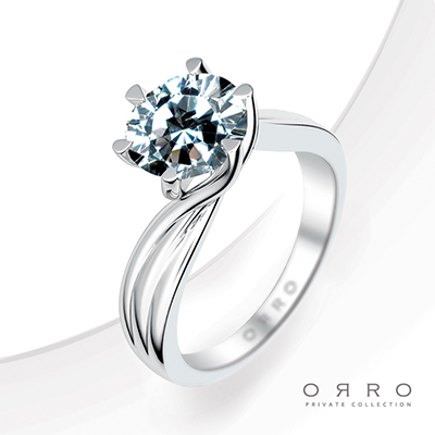 ORRO Triple Swirl Ring in 18K White Gold
