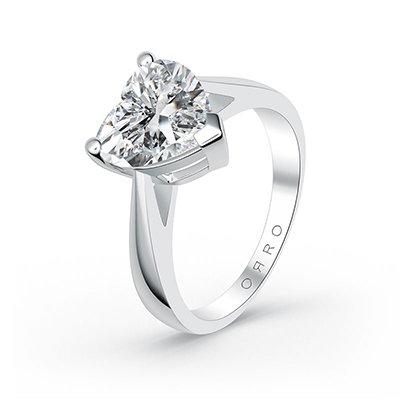 ORRO Classic Love Edition Ring (2.0ct) in 18K White Gold