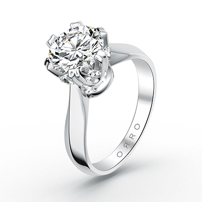 ORRO Modern Roman Set Ring in 18K White Gold