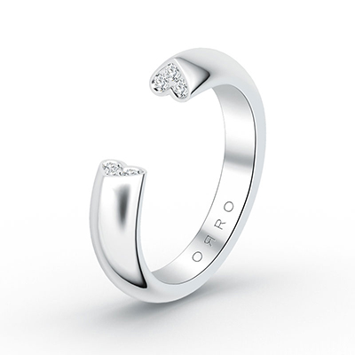 ORRO Love Edition promise ring in 18K White Gold