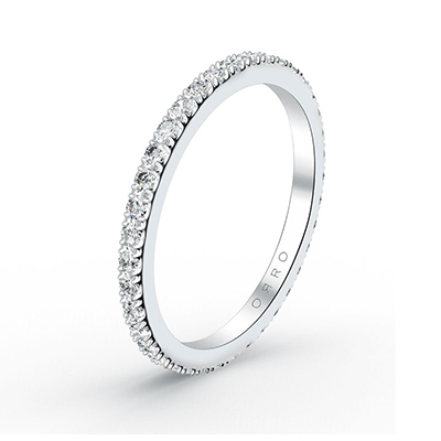 ORRO Delicate Paved Ring Band
