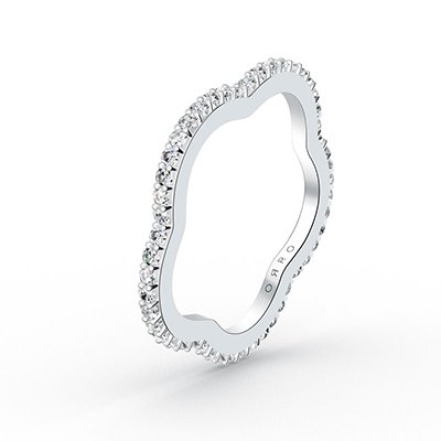 ORRO Blossom Bloom eternity ring in 18K White Gold