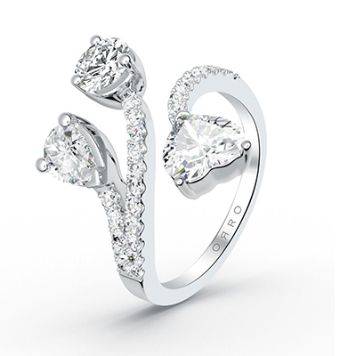 ORRO Kristie Ring in 18K White Gold
