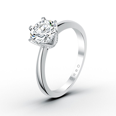 ORRO Adorned Six-Pronged Solitaire Ring