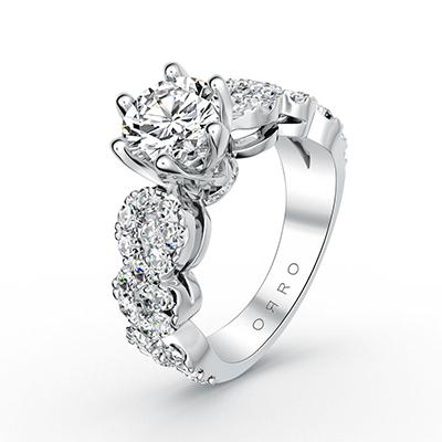 ORRO Ring 19025 in 18K White Gold