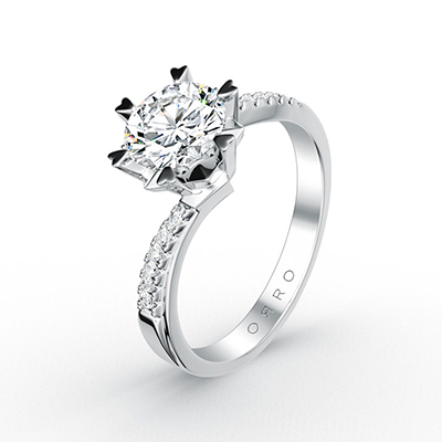 ORRO Love Edition Legacy Hearts Prong Ring
