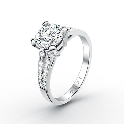 ORRO Classic Royal Crossroads Ring in 18K White Gold
