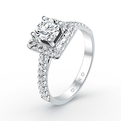 ORRO Celestial Solitaire Ring in 18K White Gold