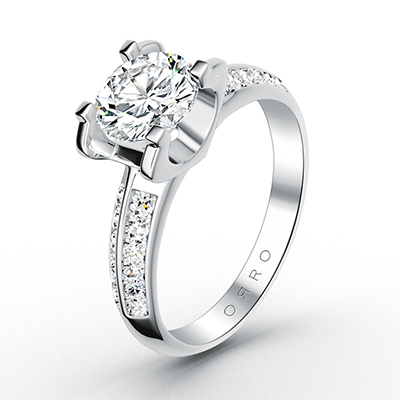 ORRO Modern Pronged Ring With Dual Sides (0.75ct)