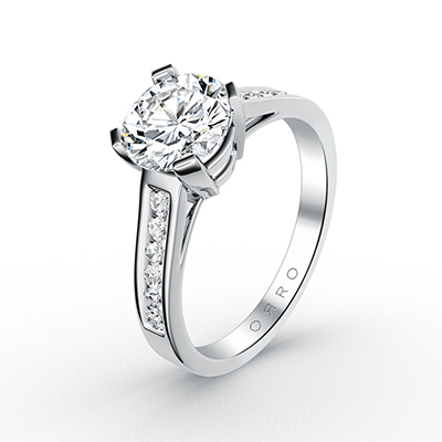 ORRO Classic Hoffman Ring in 18K White Gold