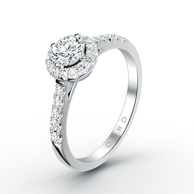 ORRO Microset Half Band Paved Brilliant Cut Ring (0.25ct)