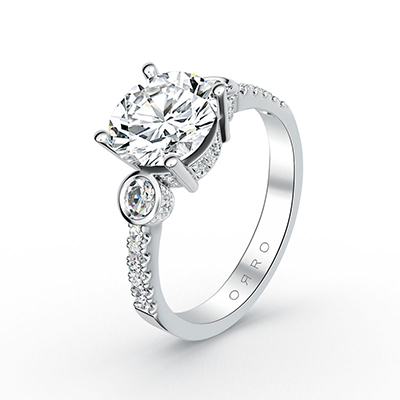 ORRO Ocular Elegance Ring in 18K White Gold