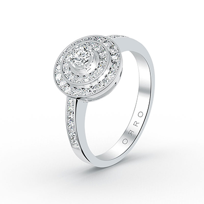 ORRO Royal Rose Ring in 18K White Gold