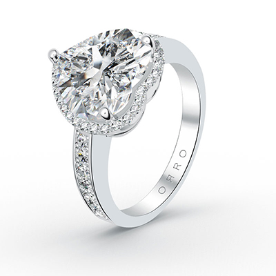 ORRO Center Of My Heart Ring (4.0ct center stone)