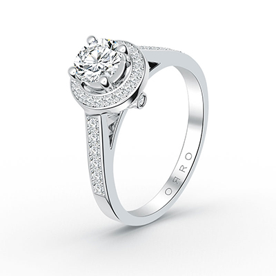 ORRO Celestial Clarity Ring in 18K White Gold