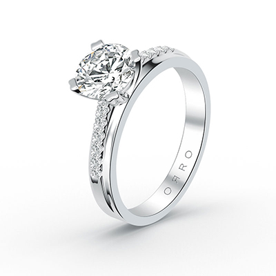 ORRO Half-Band 4 Prong Solitaire Ring