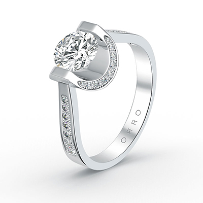 ORRO Hold Me Steady Ring in 18K White Gold