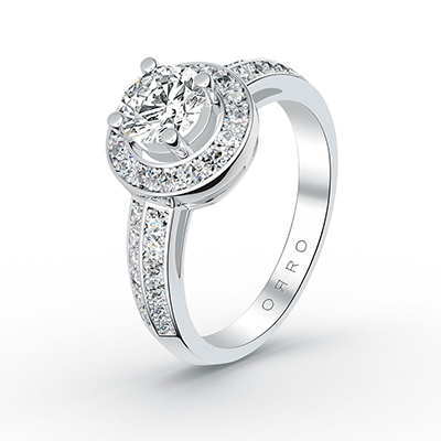 ORRO Encircling Love Ring in 18K White Gold
