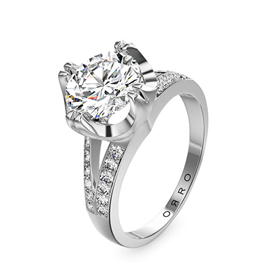 ORRO Classic Sphere Pronged Crossroads Ring (1.0ct)