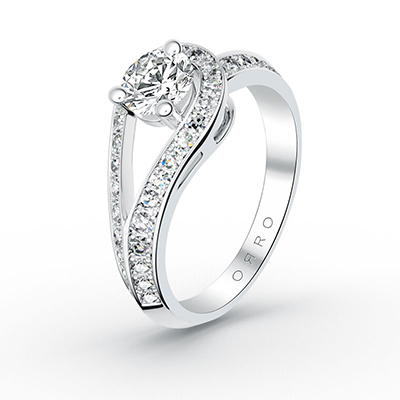 ORRO Looped Around You Ring in 18K White Gold