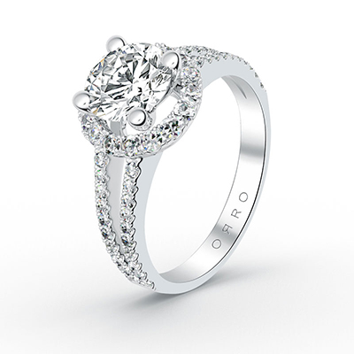 ORRO Pop Out Ring in 18K White Gold
