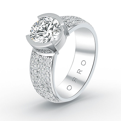 ORRO Bold Chunky Ring in 18K White Gold