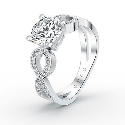 ORRO To Infinity Ring in 18K White Gold
