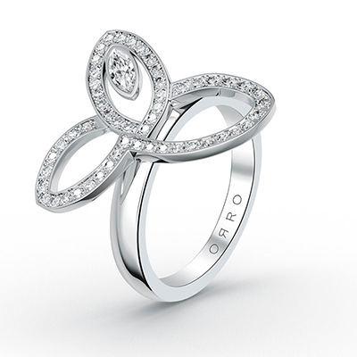 ORRO Forever Charmed Ring in 18K White Gold