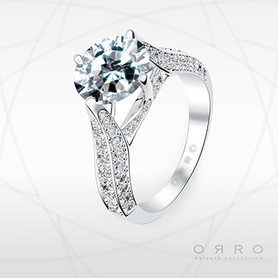 ORRO Magnificent Merona Ring in 18K White Gold