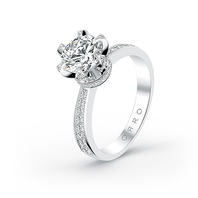 ORRO Majestic Crown Ring (1.0ct) in 18K White Gold
