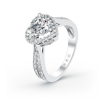 ORRO Spectacular Hearts Ring in 18K White Gold