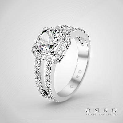 ORRO Solstice Ring In 18K Rose Gold