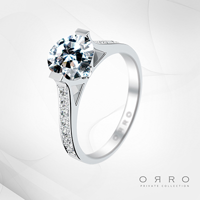 ORRO Amazing December Ring in 18K White Gold