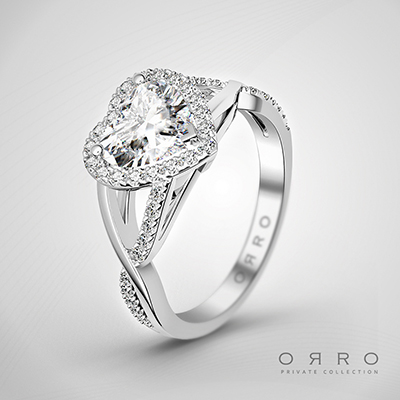 ORRO from the Heart Ring In 18K White Gold