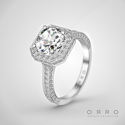 ORRO Momento Mori Ring In 18K White Gold