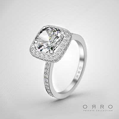 ORRO Eternal Brilliance ring In 18K Rose Gold