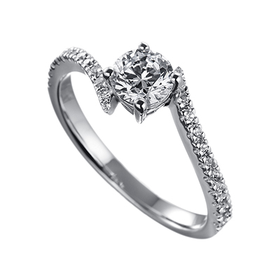 ORRO Camila Swirl Ring (0.50ct)