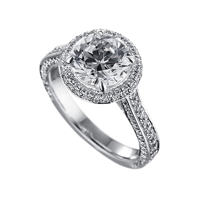 ORRO Ring 19295 in 18K White Gold