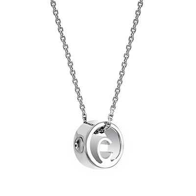 The ORRO Colette Initials Pendent (Classic) in 18K White Gold